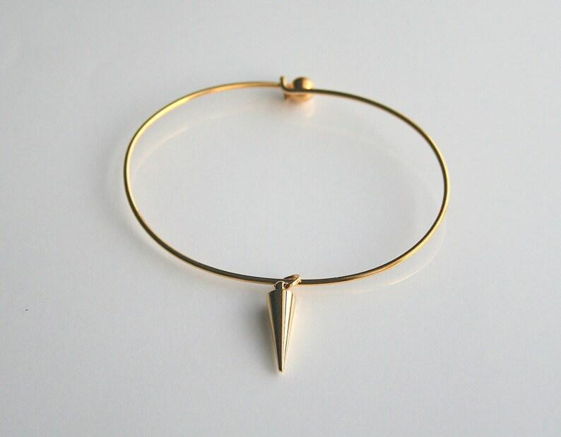 f8b66e6b9f20 Espiga de oro simple acodar pulsera brazalete de SPIKE