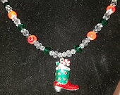 Christmas Cowboy Boot Necklace