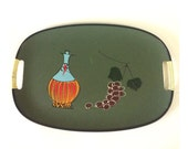 Vintage Olive Green Serving Tray