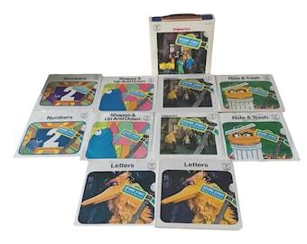 1970 Original Cast Sesame Street 45 Record Boxed Set