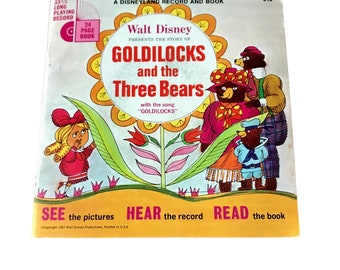 1967 Goldilocks and the Three Bears Children's Read A Long Book and 45 Record