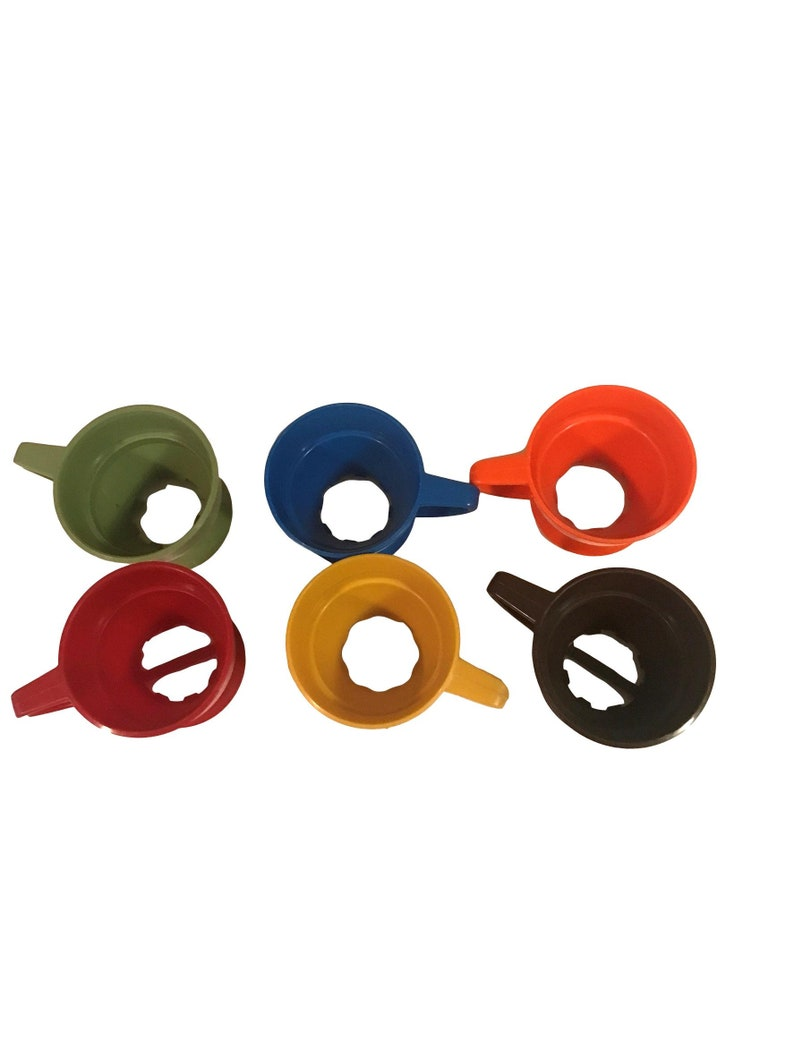Vintage Set of 6 Plastic Solo Cup Holders