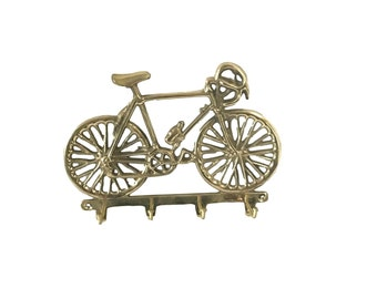 Vintage Brass Finish Bicycle Mountable Wall Key Hook