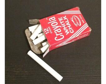 Vintage Box of Binney & Smith Crayola White Chalk