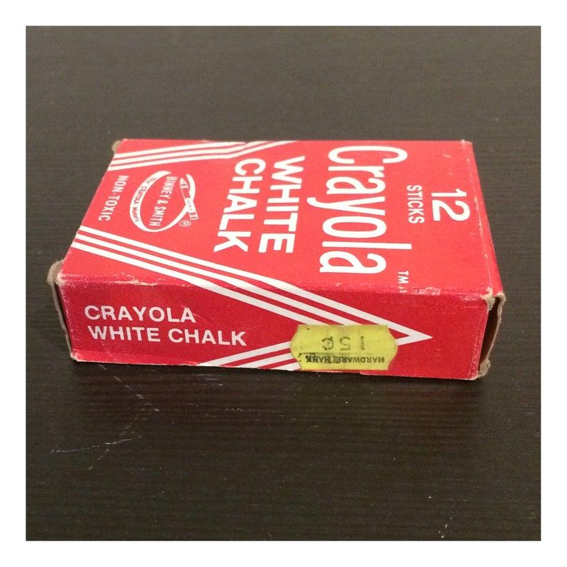 Vintage Box of Binney /& Smith Crayola White Chalk