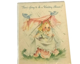 Vintage 1940's Wedding Shower Invitations Pack of 6
