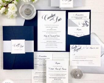 Navy Silver Wedding Etsy