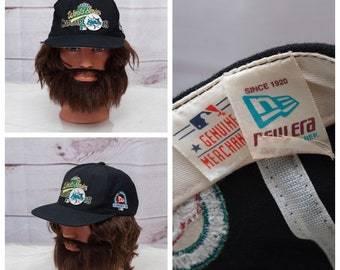 3102fa8a039 1997 Florida Marlins MLB World Series Championship Strapback Baseball Black  New Era Official Championship Clubhouse Wool Hat Cap Vintage