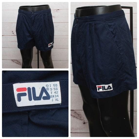 Vintage FILA Men's USA Size 34 Navy 1980s Tennis S
