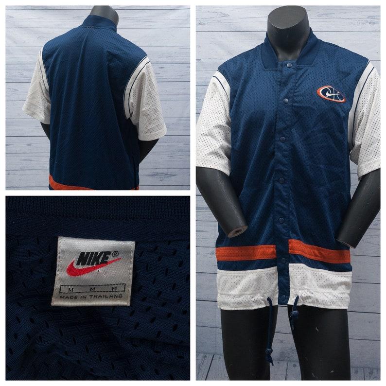 timeless design d6abd bb959 Vintage Nike Jacket Baksetball Warmup Jersey Full Zip Size   Etsy