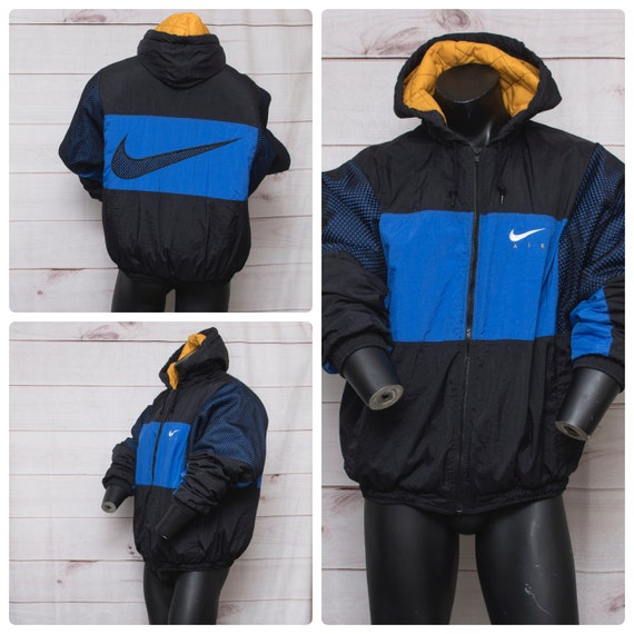 nike large swoosh full-zip hoodie yellow