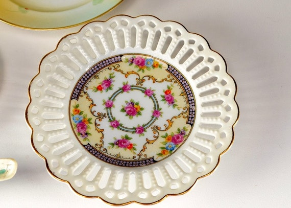 shabby chic easter decor on sale.htm lovely porcelain handpainted open weave plate made in etsy  lovely porcelain handpainted open weave