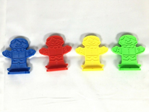 Candy Land Board Game 4 Gingerbread Men Movers Pawns Replacement Pieces Tokens
