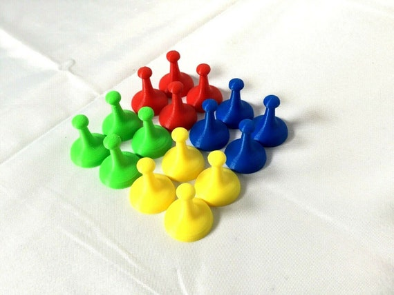 Sorry Game Replacement Tokens Pawns   Movers 16 Pieces red green yellow blue
