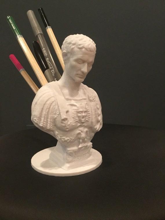 Julius Caesar Pencil Holder Classy Julius Caesar Ides Of March Pen Pencil Holder Sculpture Etsy