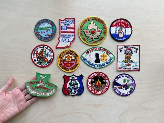 vintage 1960s Boy Scout patches