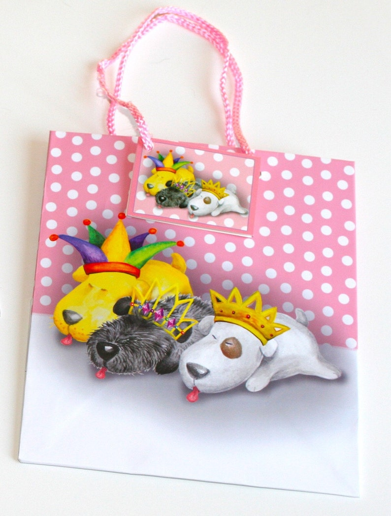 Set-Gift Bags and Gift Wrap Set includes 3 Bags /& 4 sheets of Wrap! Best Quality
