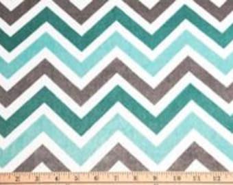 b581c3f8e17a Minky Fabric by the Yard Topaz, Gray and White Chevron Minky Cuddle by  Shannon Fabrics Fat Quarter Blanket Fabric