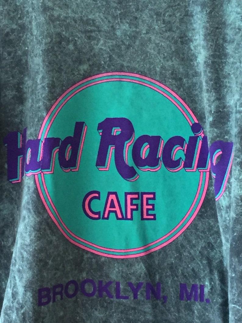 f25454b8 Vintage Hard racing cafe t shirt brooklyn michigan stone wash   Etsy
