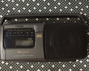 Vintage Garrard model 219 am fm stereo cassette tape player,