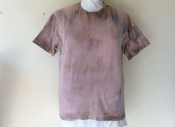 Men's Post Apocalyptic Bleached Patched & Distressed T-Shirt Wastelander Wasteland Apocalyptic Costume Cosplay Short Sleeve Mens XL McJIAwq