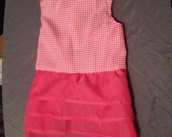 Pink layered dog dress