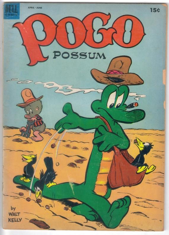 Pogo 12 Walt Kelly Art Pogo Possum Dell Comics Dell Golden Etsy