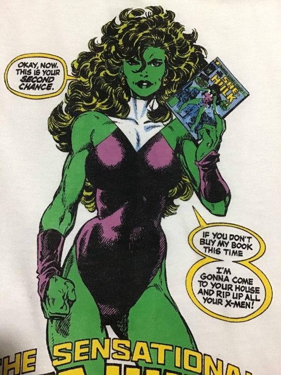 She Hulk 1989 Tee, She Hulk 1 cover tee shirt 1989
