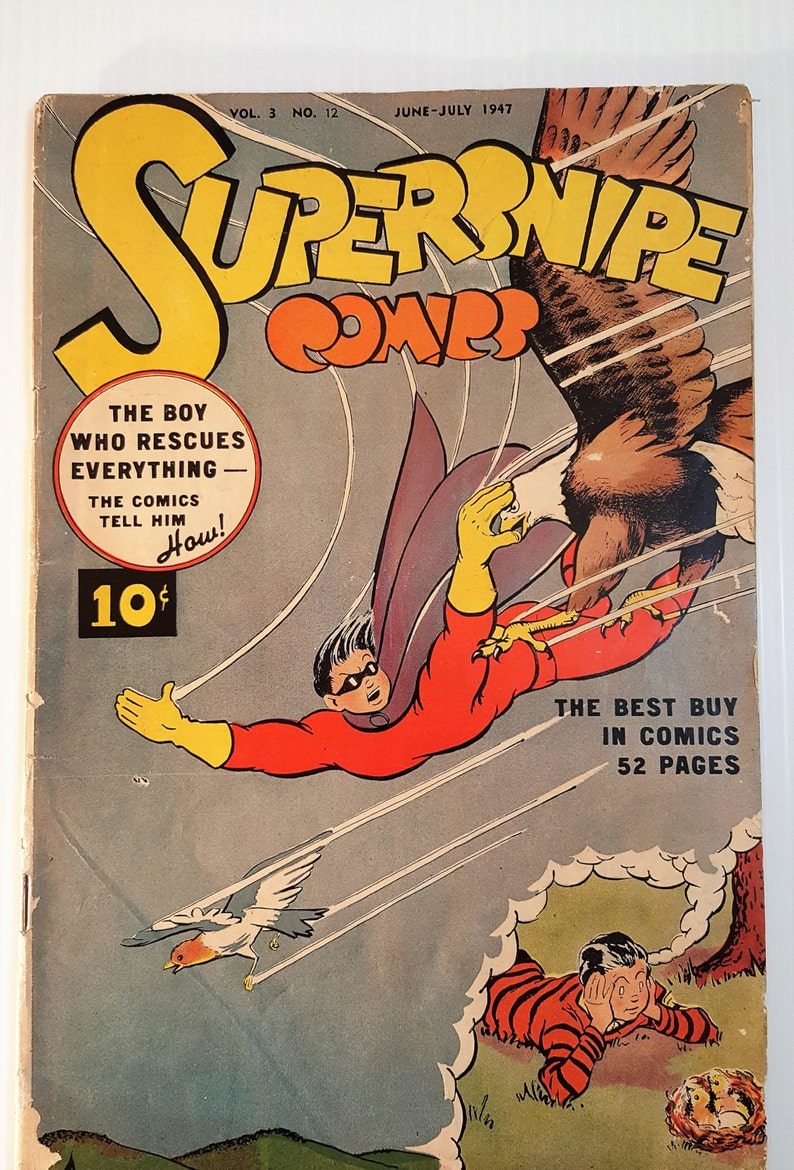 SuperSnipe 12 Golden Age comic book 1940s comic books low image 0