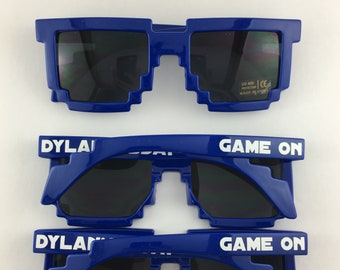 b555323d3fc2 Royal Blue ADULT Pixel Sunglasses