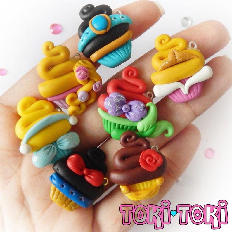Fairy Tale Princess, Cupcake Charms, Polymer Clay Princess Charms, Cute  Cupcake, Cute Clay, Cupcake Jewelry, Princess Cupcakes, Clay Cupcake