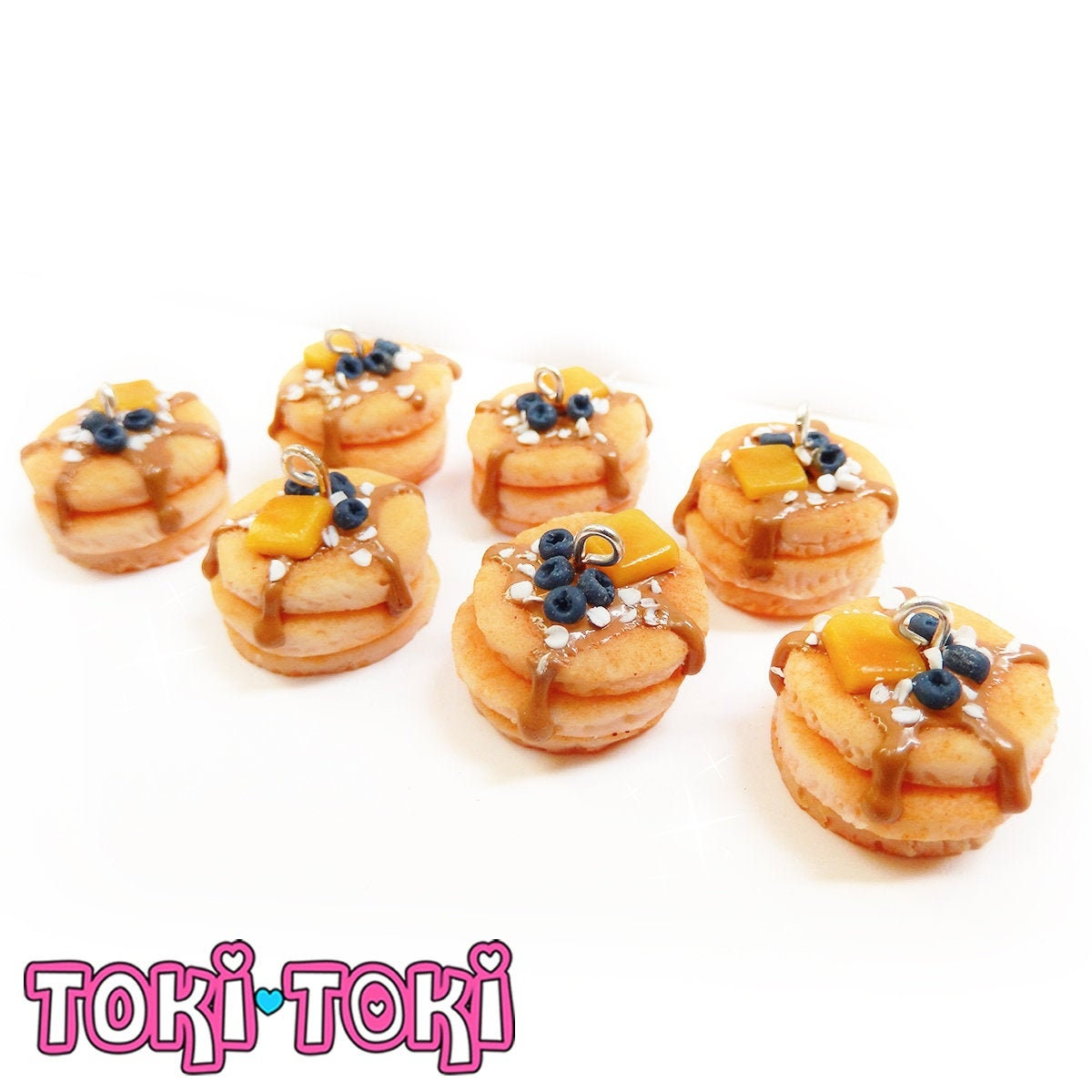 My Miniature Kitchens realistic Cherry Cheesecake Charm with lobster clasp