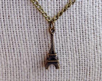 Eiffel Tower Necklace - Bronze Eiffel Tower Pendant
