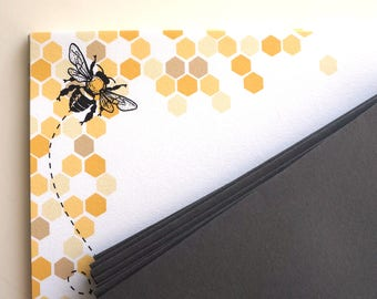 Bumble Bee Honeycomb Letter Writing Stationery Set : Free Shipping