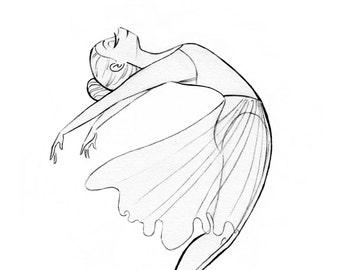 Ballerina, Print, Fine Art