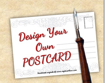 Custom Special 100 Postcards - Design Your Own Postcard - Choose 4x6 or 5x7 - Mail Directly with Your Very Own Photo & Message