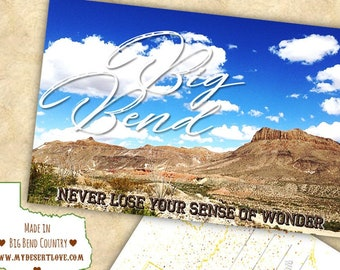 Big Bend West Texas Handmade Postcard - Desert Landscape Custom Made To Order in Texas - Nature Card - Choose 4x6 or 5x7