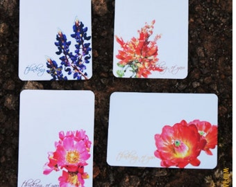 Personalized Stationary Set - Flat Note Cards - Desert Wildflowers Variety Set - Nature Cards - Gift Set