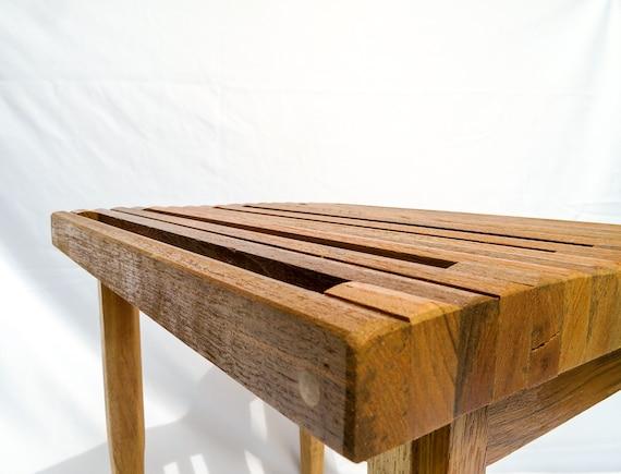 Remarkable Slatted Stool Iroko Wood Ibusinesslaw Wood Chair Design Ideas Ibusinesslaworg