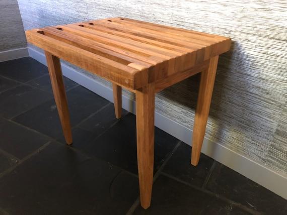 Pleasing Slatted Stool Iroko Wood Ibusinesslaw Wood Chair Design Ideas Ibusinesslaworg