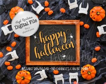 Happy Halloween Sign, Halloween Sign, Halloween Printables, Party Decor, Instant Download, Digital File