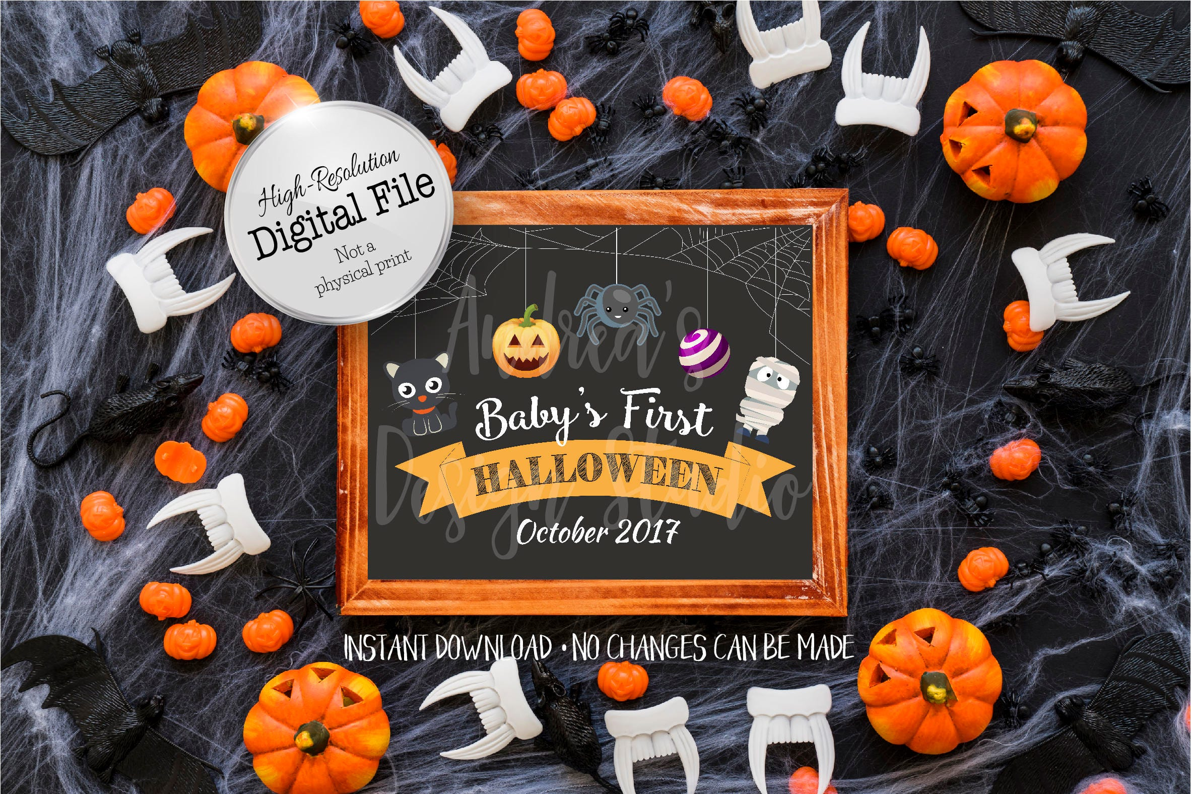 baby's first halloween sign halloween printables photo | etsy