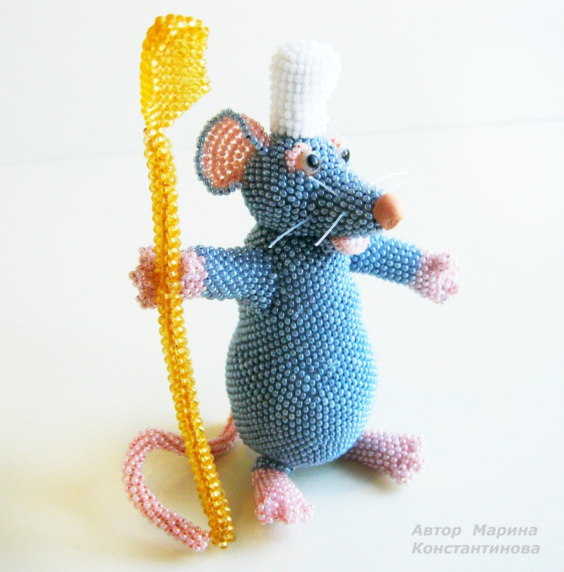 Pattern rat Tutorial rat Bead toys, Create a rat of beads How to make a  mouse Create rat Like a rat - Master class for creating Remy the rat
