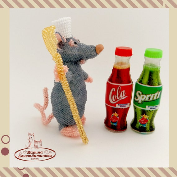 Pattern rat Tutorial rat Bead toys, Create a rat of beads How to make a  mouse Create rat Like a rat - Remy the rat peyote stitch e-book bead