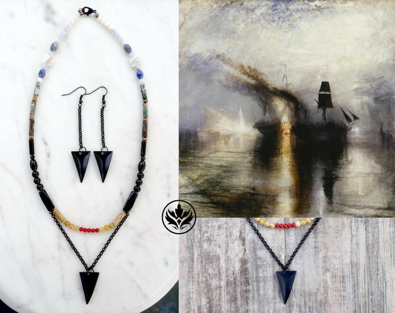 Peace  Burial at Sea Jewellery Set Art Inspired Jewelry Set image 0