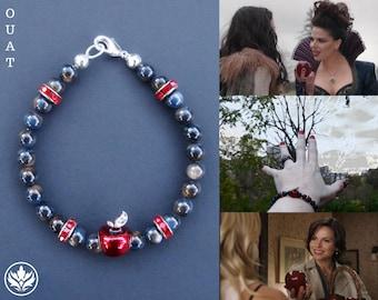 Once Upon a Time Bracelet, OUAT Bracelet, Red Apple Bracelet, Snow White Bracelet, Natural Shell Bracelet, Teacher Appreciation, Cosplay