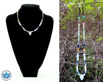Chakra Necklace, Amazonite Necklace, Amazonite and Sodalite Necklace, Chakra Jewelry, Chakra Jewellery, Christmas Gift, Gemstone, Rainbow