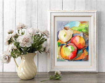 fruit picture poster, fruit for cooking, watercolor fruits, food art