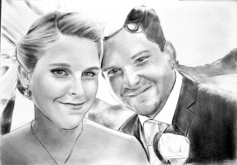 Best Gifts for Husbands birthday, unique gift for him, custom gift for  husband, birthday present ideas for men, charcoal portrait drawing