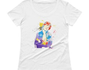 fa3d6c16d Mick Jagger Ladies  Scoopneck T-Shirt